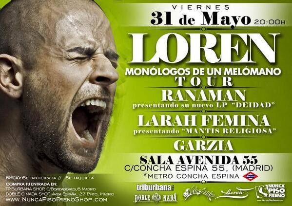 próximo concierto día 31 de mayo